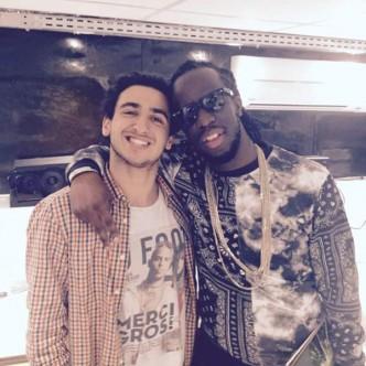 Gad Messsika avec le rappeur Youssoupha